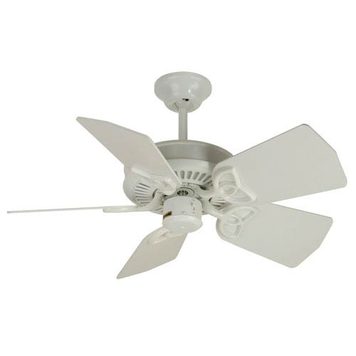 Craftmade Piccolo White Ceiling Fan with 30-Inch Piccolo White Blades
