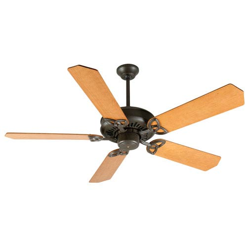 Craftmade American Tradition Aged Bronze Ceiling Fan with 52-Inch Custom Wood Dark Oak Blades