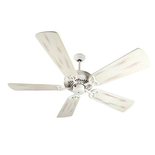 Craftmade American Tradition Antique White Ceiling Fan with 54-Inch Premier Distressed Antique White Blades