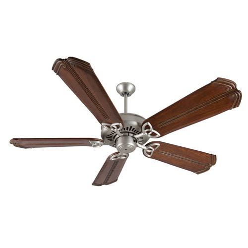 Craftmade American Tradition Brushed Nickel Ceiling Fan with 56-Inch Custom Carved Chamberlain Oak Blades