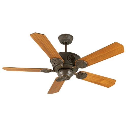 Craftmade Chaparral Aged Bronze Ceiling Fan with 52-Inch Custom Wood Teak Blades