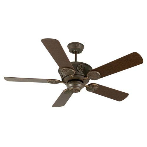 Craftmade Chaparral Aged Bronze Ceiling Fan with 52-InchStandard Plus Series Aged Bronze