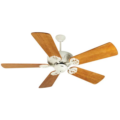 Craftmade Cordova Antique White Ceiling Fan with 54-Inch Premier Hand-Scraped Oak Blades