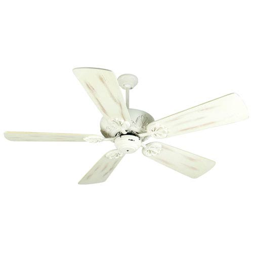 Craftmade Cordova Antique White Ceiling Fan With 54 Inch Premier Distressed Blades