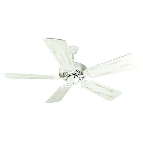 Craftmade CXL Antique White Ceiling Fan with 54-Inch Premier Distressed Antique White Blades