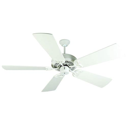 Craftmade CXL Antique White Ceiling Fan with 54-Inch Premier Antique White Blades