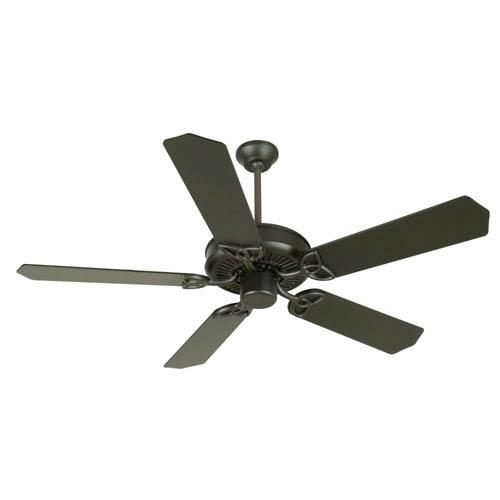 Craftmade CXL Flat Black Ceiling Fan with 52-Inch Standard Flat Black Blades