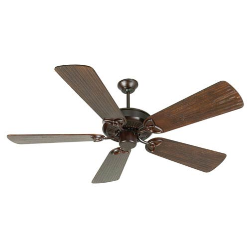 Craftmade CXL Oiled Bronze Ceiling Fan with 54-Inch Premier Hand-Scraped Walnut Blades