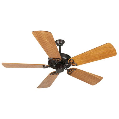 Craftmade CXL Oiled Bronze Ceiling Fan with 54-Inch Premier Hand-Scraped Teak Blades