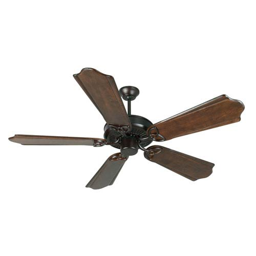 Craftmade CXL Oiled Bronze Ceiling Fan with 56-Inch Custom Carved Classic Ebony Blades