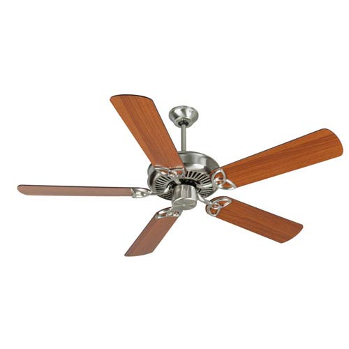 CXL Stainless Steel Ceiling Fan with 52-Inch Plus Series Cherry Blades