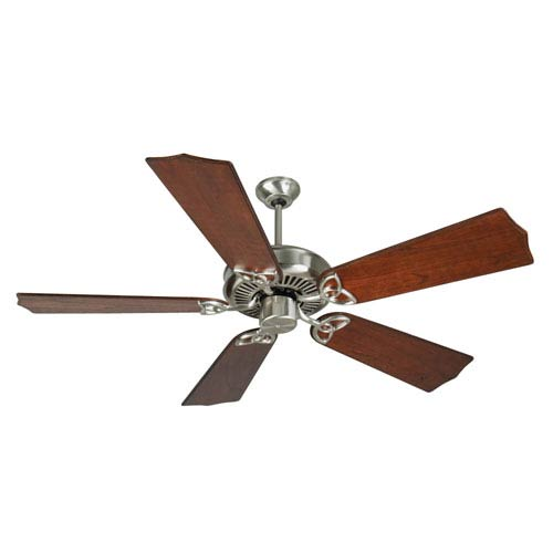 Craftmade CXL Stainless Steel Ceiling Fan with 56-Inch Custom Carved Traditional Mahogany Blades