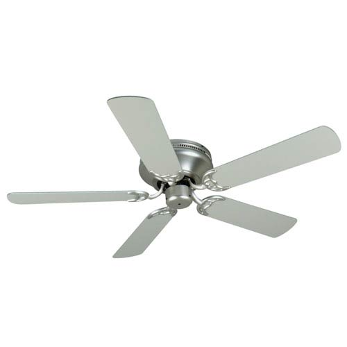 Craftmade Contemporary Flushmount Brushed Nickel Ceiling Fan with 52-Inch Plus Series Brushed Nickel Blades