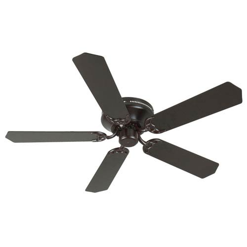 Craftmade Contemporary Flushmount Oiled Bronze Ceiling Fan with 52-Inch Standard Oiled Bronze Blades