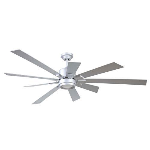 Katana Titanium 72-Inch LED Ceiling Fan with Nine Blades