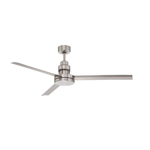 Craftmade Mondo Brushed Polished Nickel 54-Inch Ceiling Fan with Three Blades