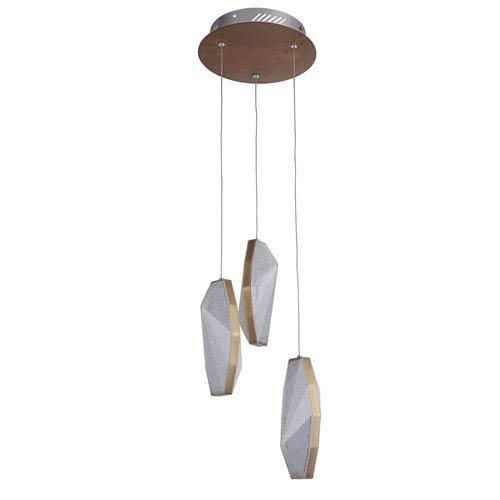 Patina Aged Brass 11-Inch Three-Light LED Pendant