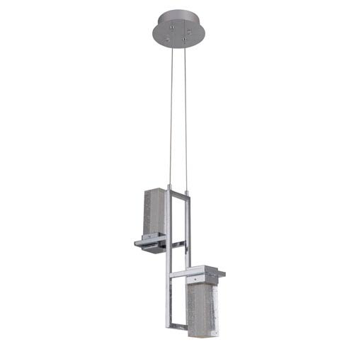 Chrome 5-Inch Two-Light LED Mini Pendant