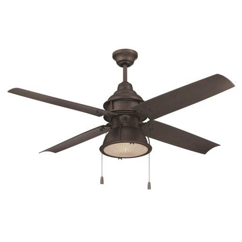 Port Arbor Espresso 52-Inch Ceiling Fan with LED Light Kit