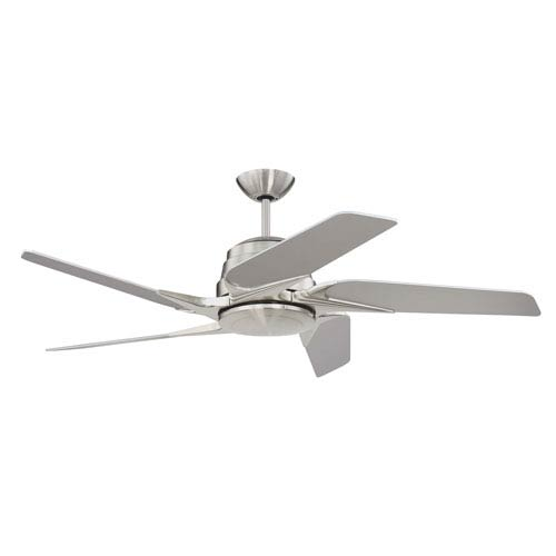 Craftmade Solo Encore Brushed Polished Nickel 54-Inch LED Ceiling Fan with Five Blades