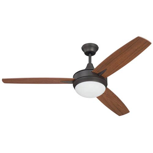 Targas Espresso 52-Inch LED Ceiling Fan with Three Blades