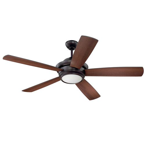 Craftmade Tempo Oiled Bronze 52-Inch LED Ceiling Fan with Five Blades