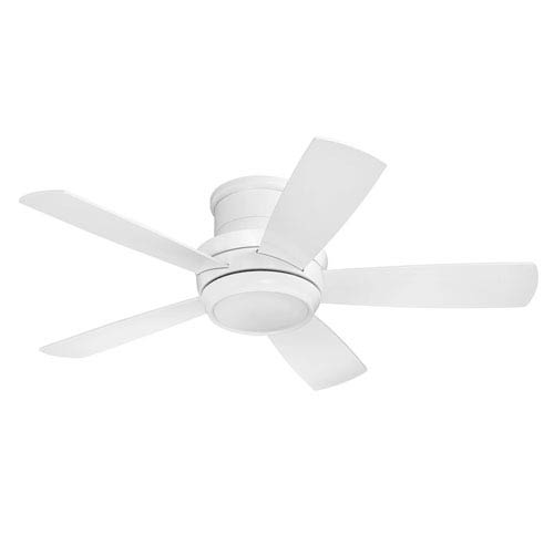 Tempo White 44-Inch LED Ceiling Fan with Five Blades