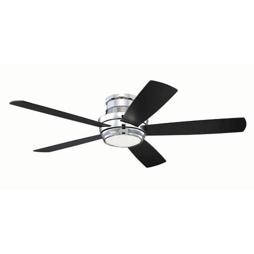 Craftmade Tempo Chrome 52-Inch LED Ceiling Fan with Five Blades