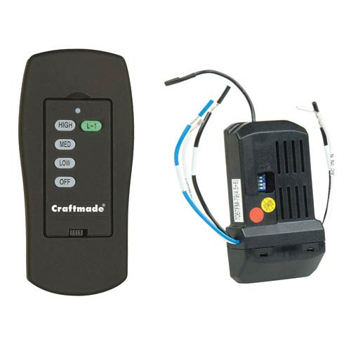 Black Universal Remote Fan Control with Receiver