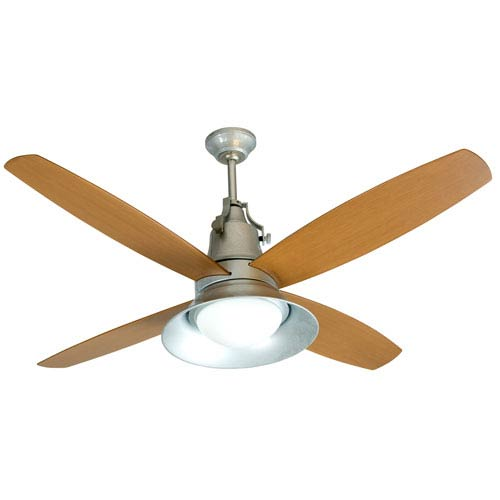Union Galvanized 52-Inch Ceiling Fan with Four Blades