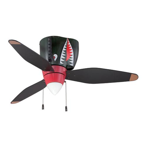 Childrens ceiling fans free shipping bellacor tiger shark warplane ceiling fan aloadofball Image collections
