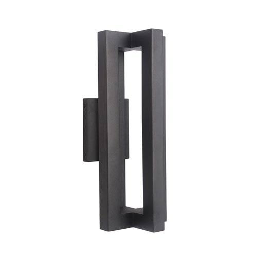 Craftmade Kai Matte Black 7-Inch Outdoor LED Outdoor Wall Mount