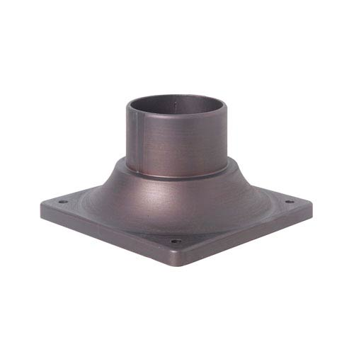 Aged Bronze Brushed 6-Inch Outdoor Post Head Adapter
