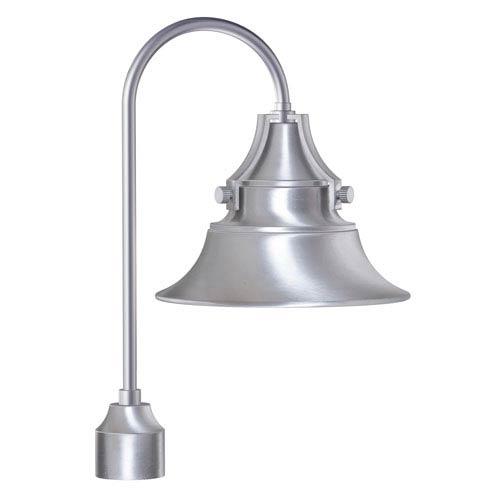 Union Satin Aluminum 12-Inch One-Light Outdoor Post Mount