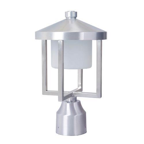 Alta Satin Aluminum 8-Inch LED Outdoor Post Mount
