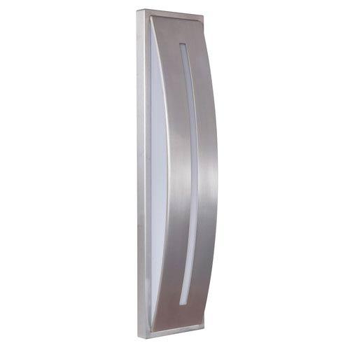 Luna Satin Aluminum 4-Inch Outdoor LED Pocket Sconce
