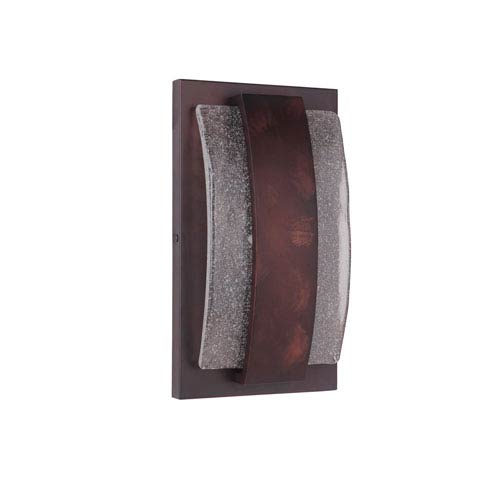 Lynk Aged Copper 8-Inch Outdoor LED Pocket Sconce