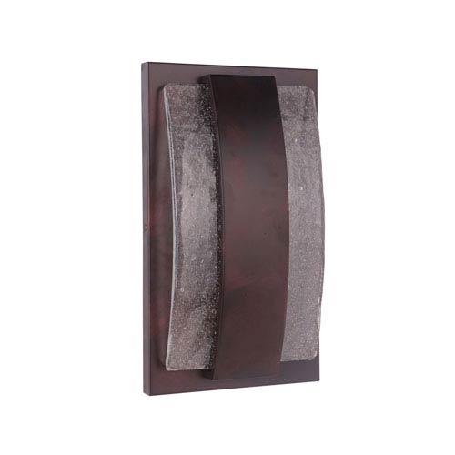 Lynk Aged Copper 10-Inch Outdoor LED Pocket Sconce