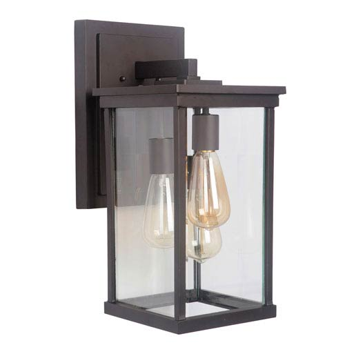 Riviera III Oiled Bronze 8-Inch Three-Light Outdoor Wall Mount