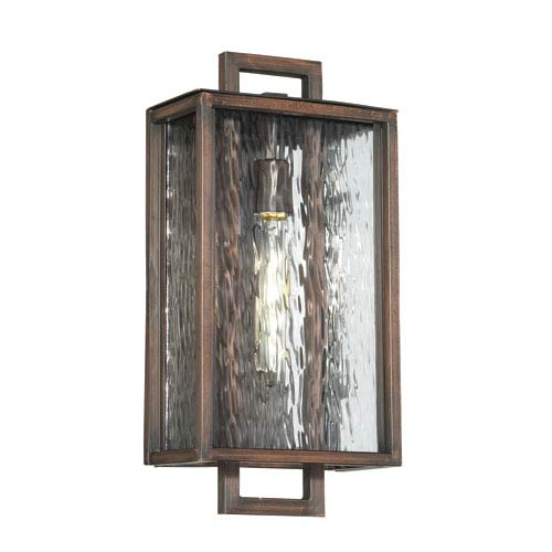 Craftmade Cubic Aged Bronze Brushed 9-Inch One-Light Outdoor Wall Mount