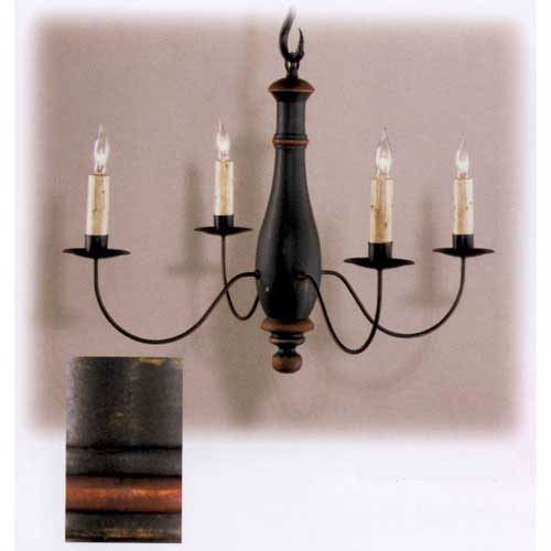 Forest Green and Barn Red Clinton Chandelier
