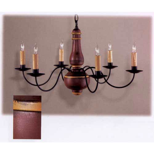 Barn Red and Mustard  Enfield Chandelier