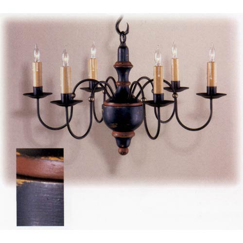 Dark Navy Cherry Valley Wood Chandelier