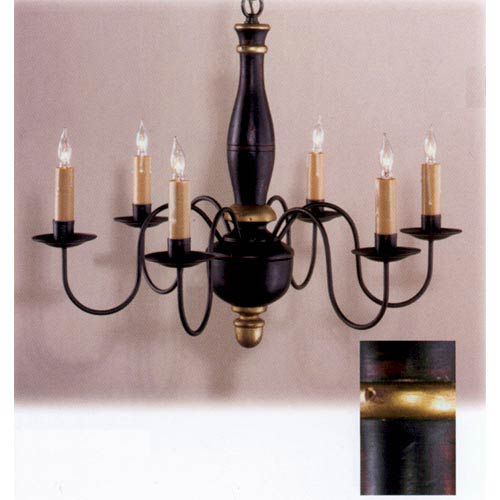 Black and Gold  Ridgefield Wood Chandelier