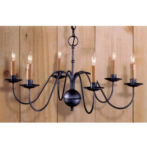 Country Traditions Stafford Pewter Chandelier