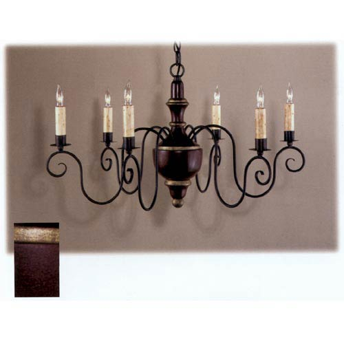 Country Traditions Cherry Red La Rochelle Wood Chandelier