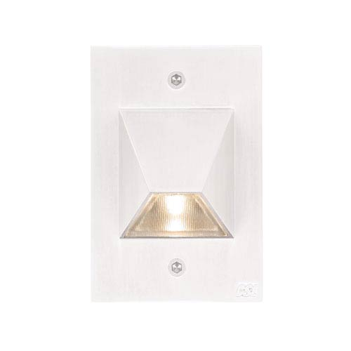 LED Steplights Matte White One Light Wall Mount