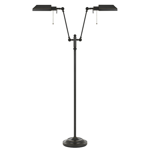Cal Lighting Pharmacy Dark Bronze 62 Inch Two Light Floor Lamp