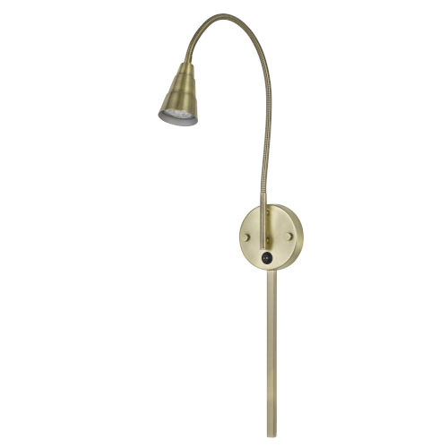 Gooseneck Antique Brass LED Wall Sconce