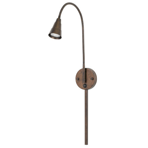 Gooseneck Rust LED Wall Sconce